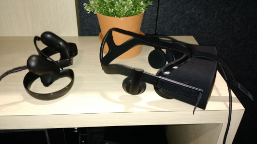 Oculus HMD and wands