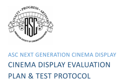 ASC Cinema display evaluation