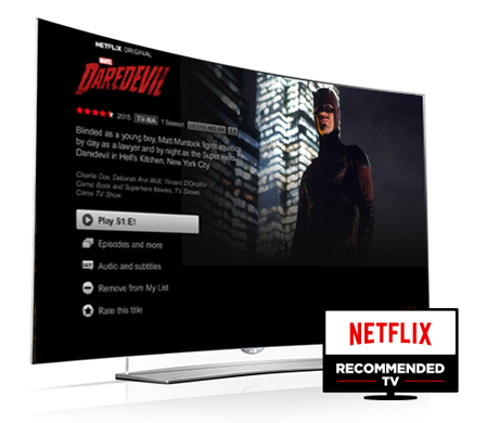 LG TVs Recommended by Netflix for Second Straight Year