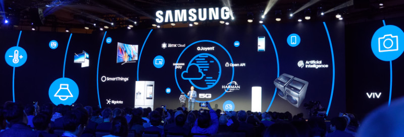 Samsung Press Event, Booth and Flip