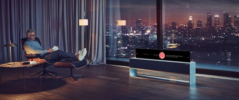 LG Electronics Launches Rollable OLED-TV at CES -- Well, Maybe