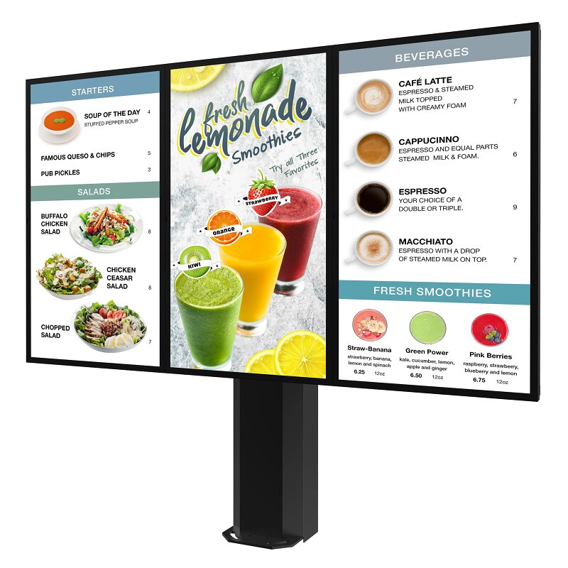 Peerless-AV Introduces Universal Outdoor Digital Menu Boards for QSR and Retail Drive-Thrus